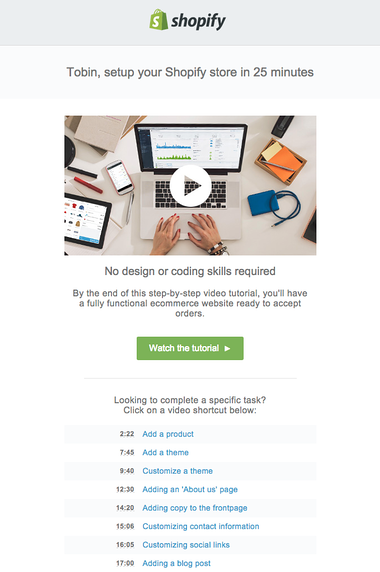 Video Email Example: video tutorial