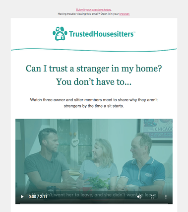 Video Email Example: Catchy