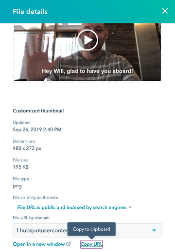 Host your video files