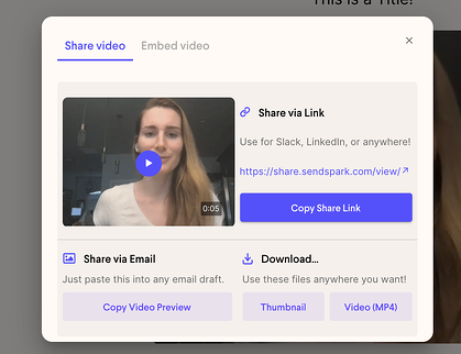 Share Videos Anywhere