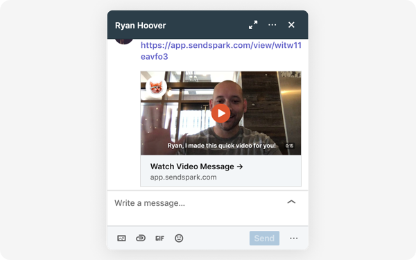 Video Message LinkedIn